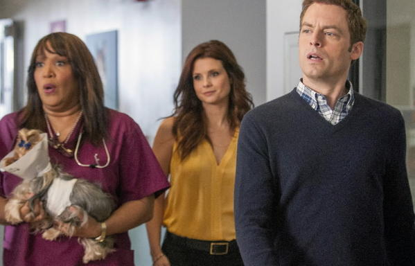 A monkey in clothes has been the promotional centerpiece of this literally beastly medical comedy, starring Justin Kirk as a veterinarian who likes animals more than people, although apart from the monkey, it's not clear he likes animals all that well either. JoAnna Garcia Swisher as an old flame/new boss and Tyler Labine as another vet provide human warmth.