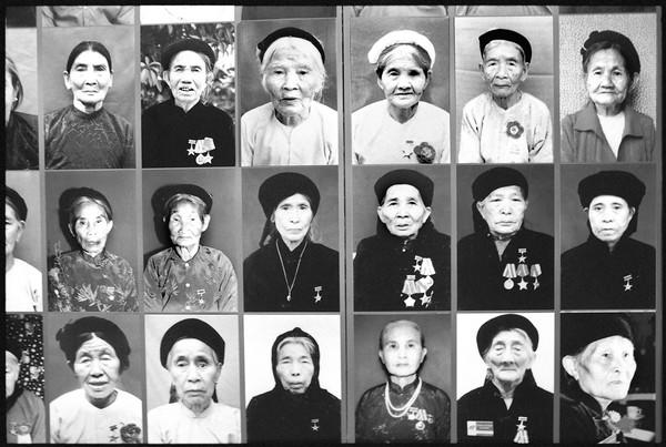 Mothers are honored at the Women's Museum in Hanoi, Vietnam, for sacrificing their kids to war.