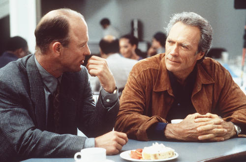 "Clint Eastwood, left, and Mark Margolis in ""Absolute Power,"" 1997."