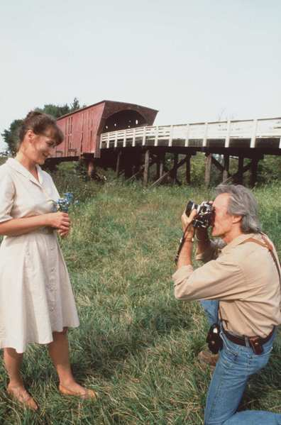 "Meryl Streep and Clint Eastwood in ""The Bridges of Madison County,"" 1995."