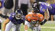 In a 5-minute span during the Ravens' season-opening 44-13 rout of the Cincinnati Bengals on Monday, safety Ed Reed intercepted an errant pass from Andy Dalton and returned it 34 yards for a touchdown.