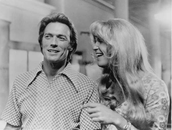"Clint Eastwood and Jeff Bridges, disguised as a girl, in ""Thunderbolt and Lightfoot,"" 1974."