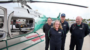 Medical helicopter making the difference