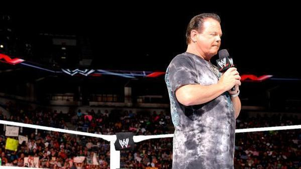 "Jerry Lawler in the ring during a ""Monday Night Raw"" episode earlier this year."