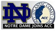 "<span style=""font-size: small;"">SOUTH BEND -- The University of Notre Dame is leaving the Big East Conference and joining the Atlantic Coast Conference in all sports except football.</span>"