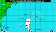 A strengthening Tropical Storm Nadine is forecast to intensify into a hurricane by Thursday.
