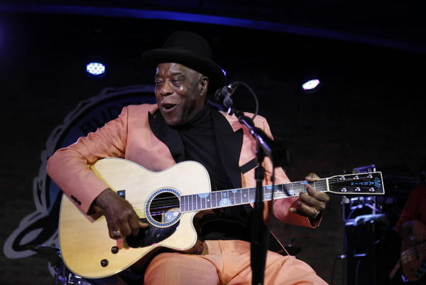 Blues legend Buddy Guy performs at his club Buddy Guy's Legends in January.