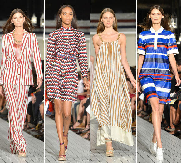 Looks from the Tommy Hilfiger women's spring-summer 2