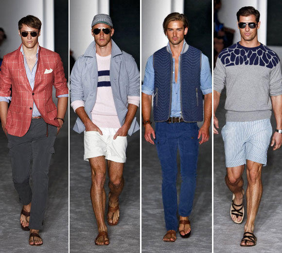 Looks from the Michael Bastian spring-summer 2013 collection shown during New York Fashion Week.