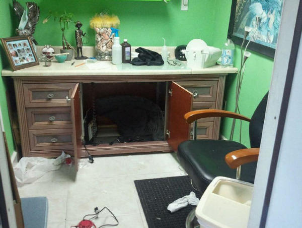 The Little Havana home that police visited had a room set up as a dental office.