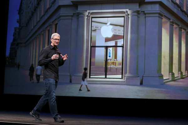 Apple CEO Tim Cook speaks during an Apple special event to announce the new iPhone 5 at the Yerba Buena Center for the Arts in San Francisco on Wednesday.