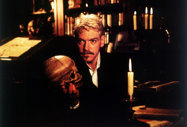 "Actor/director Kenneth Branagh as Hamlet in 1996; his screen adaptation was four hours long. Branagh began his successful run of Shakespeare films with ""Henry V"" in 1989."