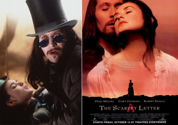 "Not all ""Dracula"" adaptations were so successful. It might be best to forget Francis Ford Coppola's 1992 version, starring Gary Oldman and Winona Ryder. Oldman was on a bad streak; three years later he starred with Demi Moore in a dreadful version of Nathaniel Hawthorne's ""The Scarlet Letter."""