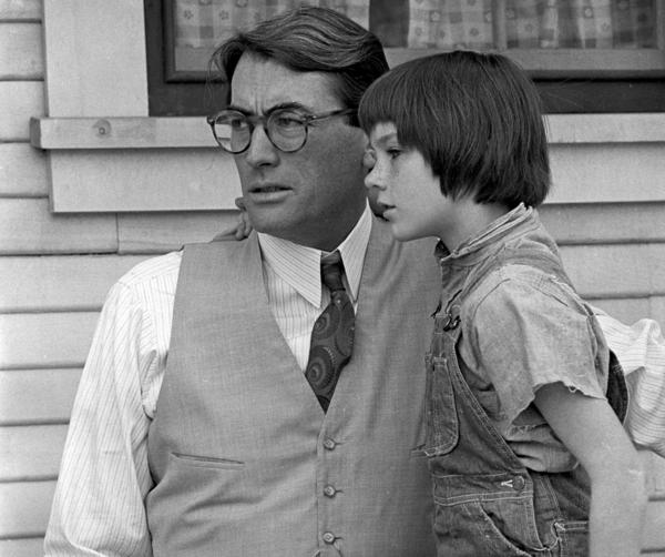 "Another dynamic duo: Gregory Peck and Mary Badham as Atticus Finch and Scout in the 1962 film of ""To Kill a Mockingbird."""