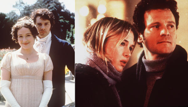 "Colin Firth was so swoonworthy as Mr. Darcy in a 1995 television version of Jane Austen's 1813 novel ""Pride and Prejudice"" that he was cast as Mark Darcy in the film version of ""Bridget Jones' Diary,"" a contemporary take on the classic."
