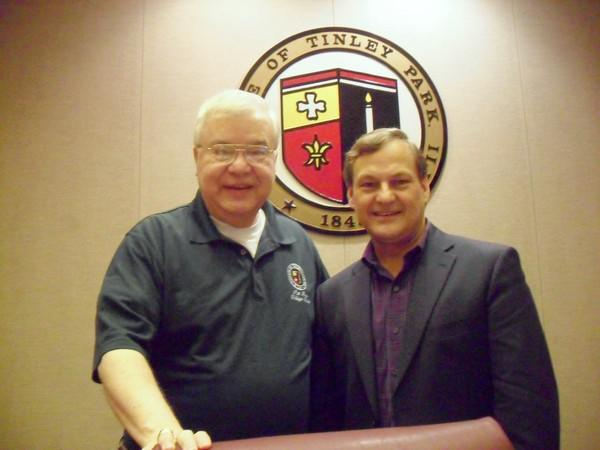 Tinley Park Village Clerk Patrick Rea (left) and Tinley Park Economic Director Ivan Baker on Sept. 4 in Tinley Park. Rea led the Pledge of Allegiance at the GOP convention, and Baker took part in an economic meeting coordinated by the White House Business Council in Washington D.C. in August.