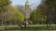 Notre Dame students differ on football team's exclusion from ACC move