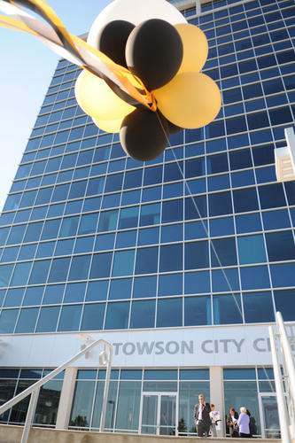 Towson University's Institute of Well Being, located in the Towson City Center, celebrated its opening with a ribbon-cutting ceremony on Sept. 12.