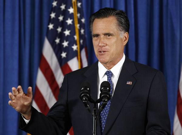 Republican presidential nominee Mitt Romney makes remarks on the attack on the U.S. consulate in Libya in Jacksonville, Fla., on Wednesday.