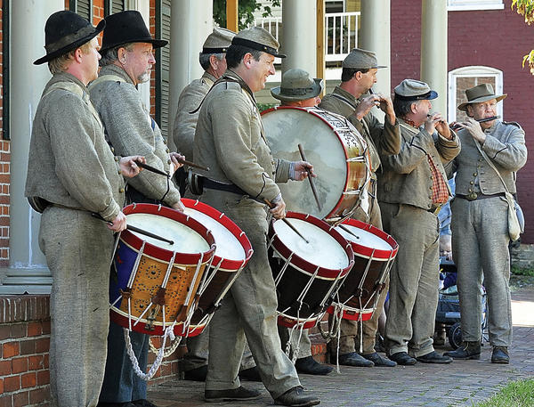 Members of the 2nd Maryland Fifes & Drum Corps perform at the Sharpsburg Heritage Festival during a past festival.