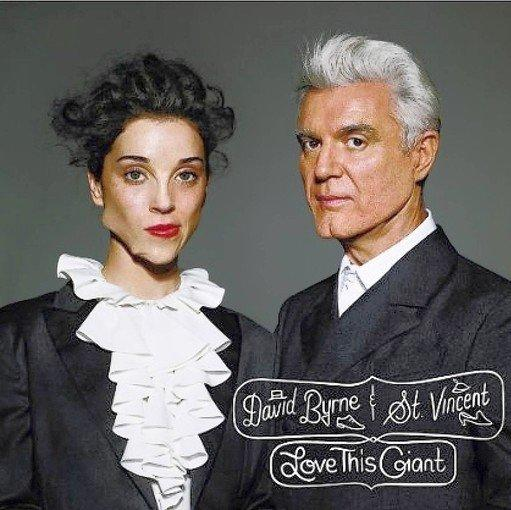 "Album cover for ""Love This Giant"": David Byrne, right, and St. Vincent."
