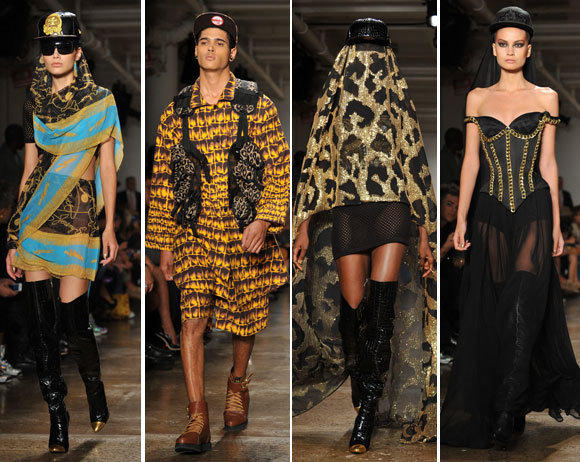 Looks from the Jeremy Scott spring-summer 2013 collection shown during New York Fashion Week.