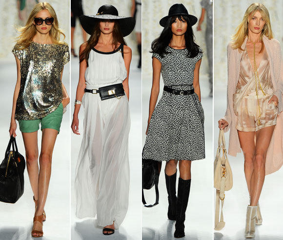 Looks from the Rachel Zoe spring-summer 2013 collection shown during New York Fashion Week.