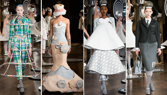 Looks from the Thom Browne spring - summer 2013 collection shown during New York Fashion Week.
