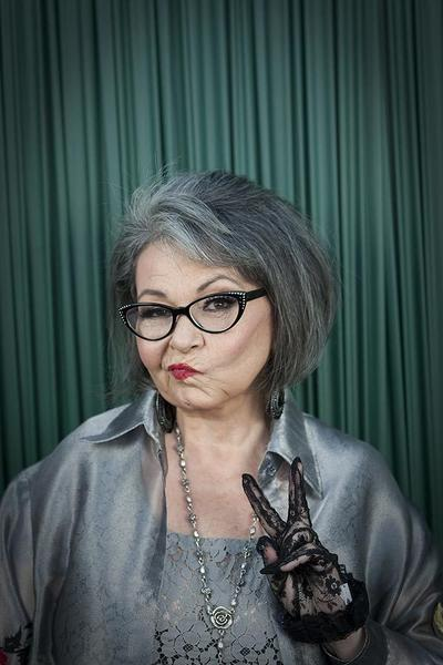 Celebrity portraits by The Times: Comedian Roseanne Barr poses for photos before her roast by Comedy Central at the Palladium in Hollywood.  MORE: Roseanne, presidential candidate, can take the heat of a roast