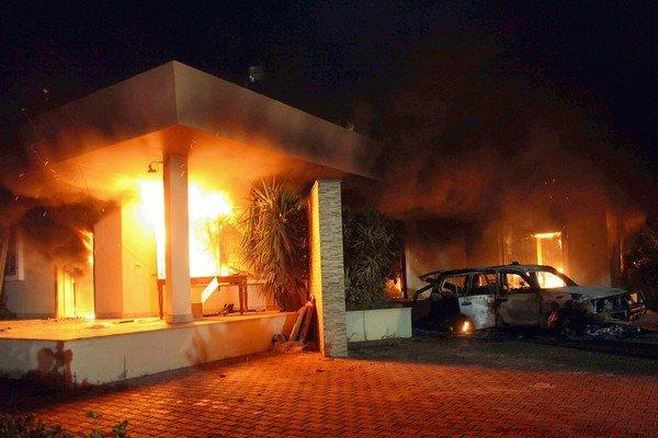 A building burns at the U.S. Consulate in Benghazi. Analysts say radicals have been looking to exploit Libya's security vacuum.