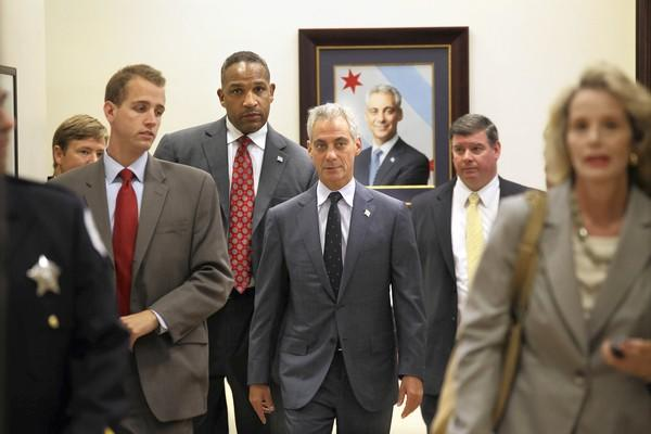 Mayor Rahm Emanuel, shown arriving for the Chicago City Council meeting Wednesday, owns the schools strike. He owns the rising homicide rate. He owns it all.