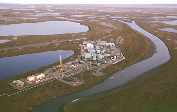The Alpine oil development is one of the early production facilities on the National Petroleum Reserve-Alaska.