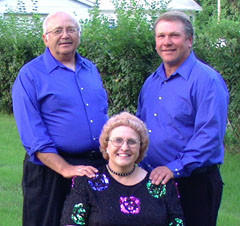 The Prairie Harmony Singers enjoy singing country gospel, traditional gospel, a hint of bluegrass gospel and even some German hymns. They are also unique in that they take turns singing the various vocal parts.