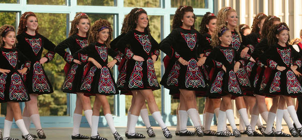 The Rince na Chroi Irish Dancers come from the Rince na Chroi School of Irish Dance in St. Paul, Minn.