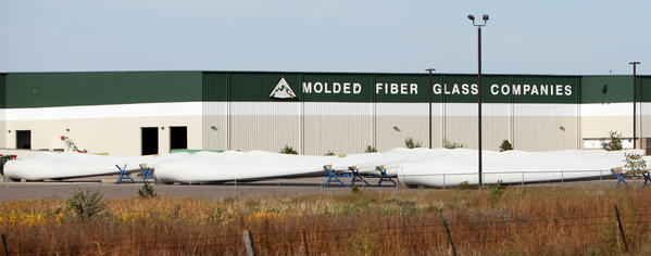 Molded Fiber Glass plant in Aberdeen. American News Photo by John Davis