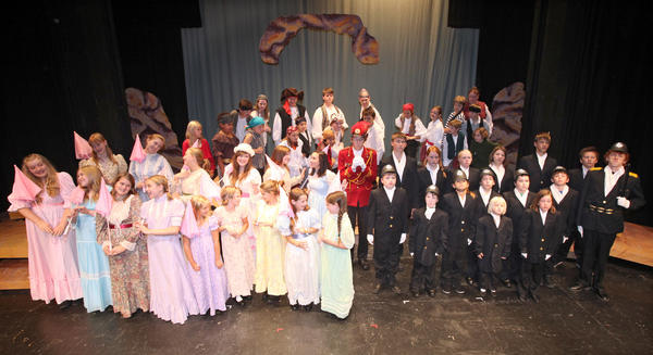 The cast of Aberdeen Community Theatre's Young People Theatre production of Pirates of Penzance Jr.; is seen. American News Photo by John Davis