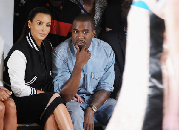 Just wanted an excuse to post this photo of Kim Kardashian and Kanye West from Wednesday in New York.