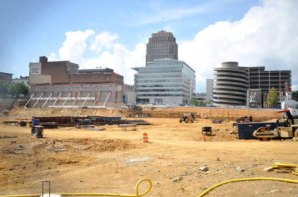 The Allentown arena construction site as it appeared in late August.