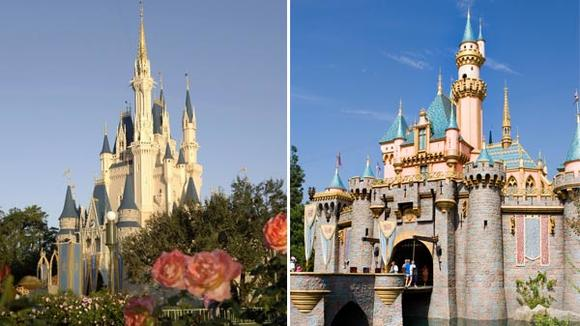 Disneyland vs. Walt Disney World -- The Castles
