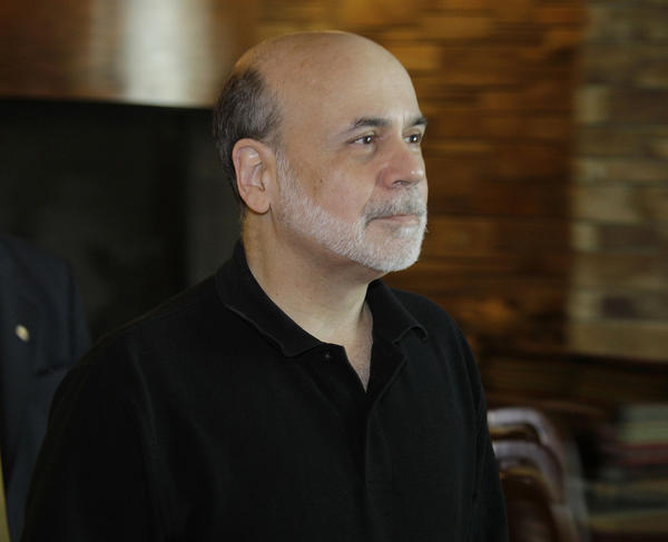 Federal Reserve Chairman Ben Bernanke arrives for the morning session of the Jackson Hole Economic Symposium, Saturday at Grand Teton National Park near Jackson Hole, Wyo.