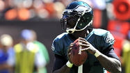 PHILADELPHIA // After Michael Vick tossed four interceptions, was sacked twice, and finished with a 50.9 rating in the Philadelphia Eagles' 17-16 win against the Cleveland Browns, the quarterback has been poked and prodded by media and fans alike.