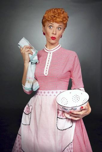 "Sirena Irwin is Lucy Ricardo in ""I Love Lucy Live on Stage."""