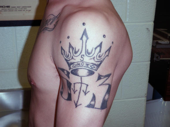Latin Kings tattoo (ICE photo, 2011)