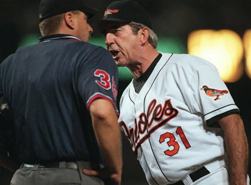 Ray Miller's Orioles went 79-83 in 1998 and finished fourth in the AL East. It was their first losing season in three years, coming on the heels of two playoff appearances under Davey Johnson.