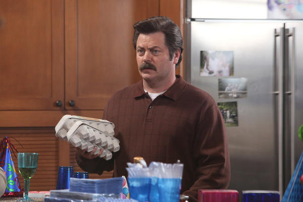 'Parks and Recreation': Our favorite Ron Swanson quotes [Pictures]: My first day of college my father dropped me off at the steel mill. He didnt think I should go to college, but I hitched a ride, enrolled and learned a lot.