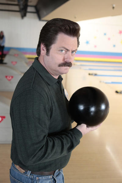 'Parks and Recreation': Our favorite Ron Swanson quotes [Pictures]: Straight down the middle, no hook, no spin, no fuss. Anything more and this becomes figure skating.