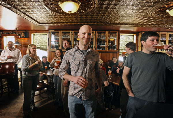 Stillwater Artsinal's Brian Strumke (center), photographed in 2010 at Max's Taphouse in Fells Point.