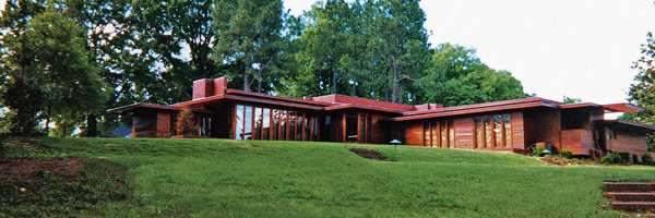 This Frank Lloyd Wright-designed home was built for Stanley and Mildred Rosenbaum. A noted example of Wright's Usonian house concept, it is the only Wright building in Alabama.