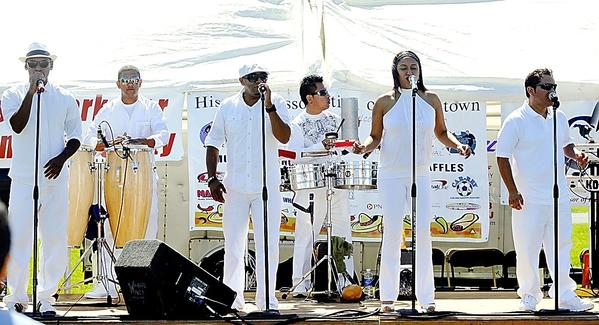 Armonia Latina performs at the 2011 Hagerstown Hispanic Festival. The Washington, D.C.-based band, which plays salsa, merengue, cumbia, bachata, regueton and other styles of music, returns to entertain the audience at this years festival at Fairgrounds Park.