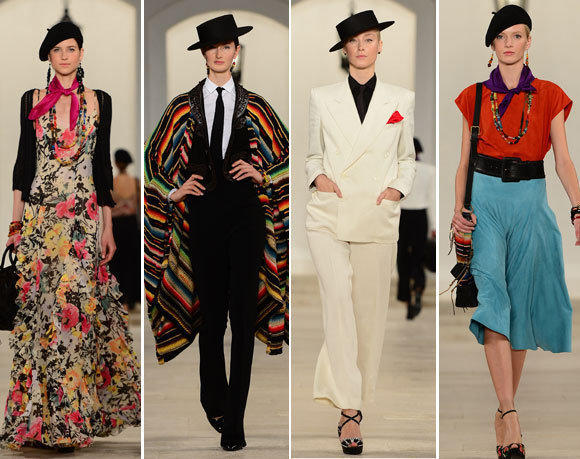 Looks from the Ralph Lauren spring - summer 2013 collection shown during New York Fashion Week.